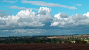 Blue skies over Hathern, Leicestershire.
