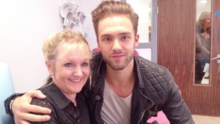 Lead singer Andy with mum Bernice