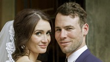 Cyclist Mark Cavendish following his marriage to model Peta Todd