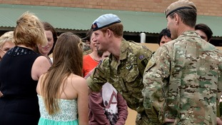 Prince Harry during his visit to the Special Air Service Regiment at it's home base at Campbell Barracks in Perth.