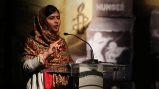 Malala Yousafzai now lives and attends school in Birmingham