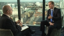 Adrian Masters interviewing David Cameron