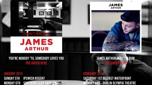 James Arthur has announced his tour dates, but failed to notice the 'Middlesborough' spelling error.