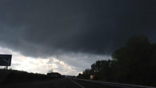 Tornado on the A34 heading south at Kidlington, Oxfordshire