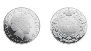 Royal Mint strikes coins for Prince George's christening