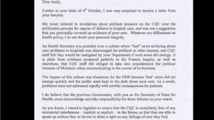 Jeremy Hunt posted this letter written to Andy Burnham on his Twitter page.