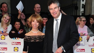 Cornation Street actress Helen Worth and husband Trevor Dawson arriving at the Pride of Britain Awards