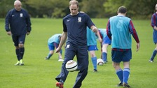 Prince William shows off his skills.