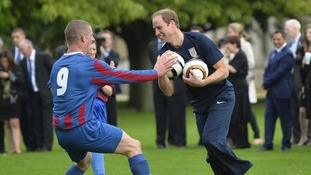 Prince William training