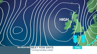 A Cold Front will sink south pulling in cooler air