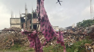 Aftermath of Bangladesh factory collapse pictured.