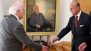 Peter Higgs meets The Duke of Edinburgh