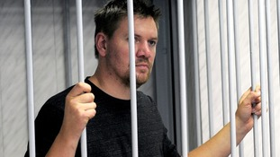 Greenpeace activist Anthony Perrett pictured in court.
