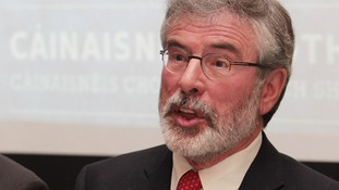 Sinn Fein leader Gerry Adams pictured in Dublin today.