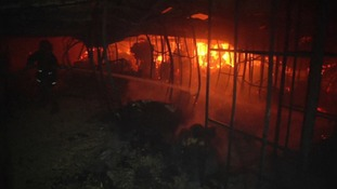 Nine people are believed to have been killed in a fire at a garment factory in Bangladesh.