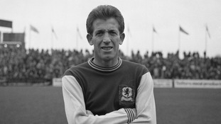 Peter Broadbent in his Aston Villa strip. He played for the club for three years in the 60s