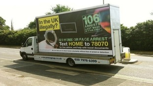 One of the Home Office vehicles seen in six London boroughs in July