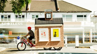 Mobile public space, on the back of a bike
