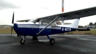 The Cessna 172 light aircraft that passenger John Wildey landed.