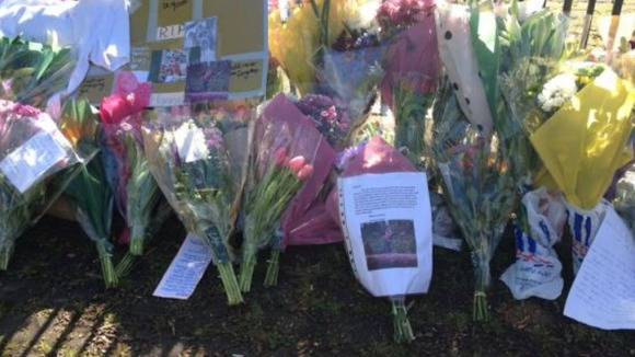 Floral tributes left outside Hannah&#x27;s school in Wilmslow