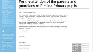 Pimlico Primary website
