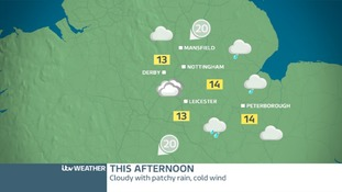 EAST MIDLANDS: Cloudy, wet and windy