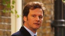 Colin Firth filming the sequel to Bridget Jones Diary 'The Edge of Reason'