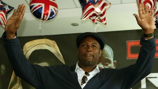 Lennox Lewis, seen earlier this year