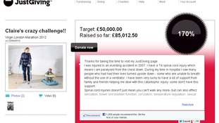 Claire Lomas' JustGiving page