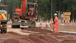 Diversions are being set up while the roadworks take place