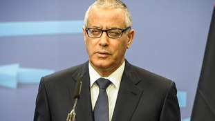 Prime Minister of Libya Ali Zeidan pictures in Brussels earlier this year.