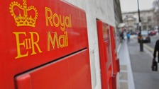 A Royal Mail postbox in Covent Garden, London.