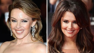 Cheryl Cole and Kylie Minogue