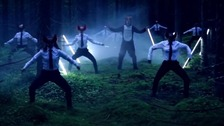 A scene from the video for pop single What Does The Fox Say? by Ylvis