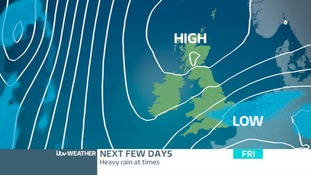 Low Pressure sending unsettled weather our way