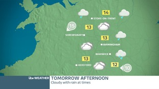 WEST MIDLANDS: Saturday afternoon forecast