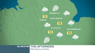 EAST MIDLANDS: Saturday afternoon will be cloudy and wet
