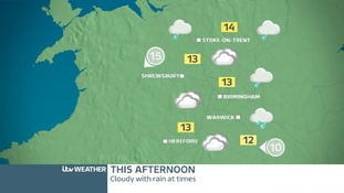 WEST MIDLANDS: A cloudy and wet Saturday