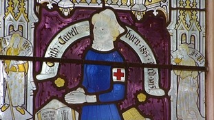 A window dedicated to Edith Cavell at Swardeston Church
