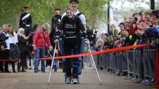 Claire Lomas opened the Leicester Marathon last year