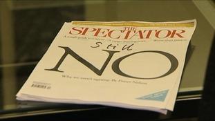 """Spectator cover reading """"still no""""."""