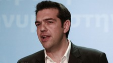 Leader of the far-left Syriza party Alexis Tsipras.