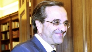 Greek Conservative leader Antoni Samaras.