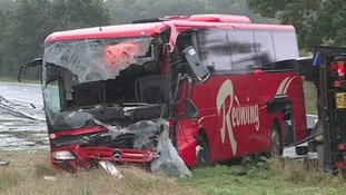 The coach was on its way to Newcastle