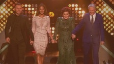 The X Factor judges take to the stage on last night's show.