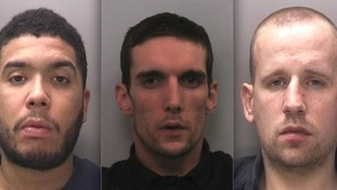 Karl White, James Kennea and Leigh Barry have been jailed for a string of robbery offences across Warwickshire