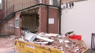 The three men who used the digger to tear a hole in the bank have now been jailed