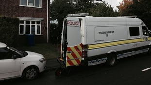 The van remains outside the house in Mansfield today