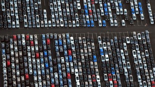 Thousands of cars at the Nissan plant in Sunderland