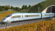 Artist's impression of HS2 train